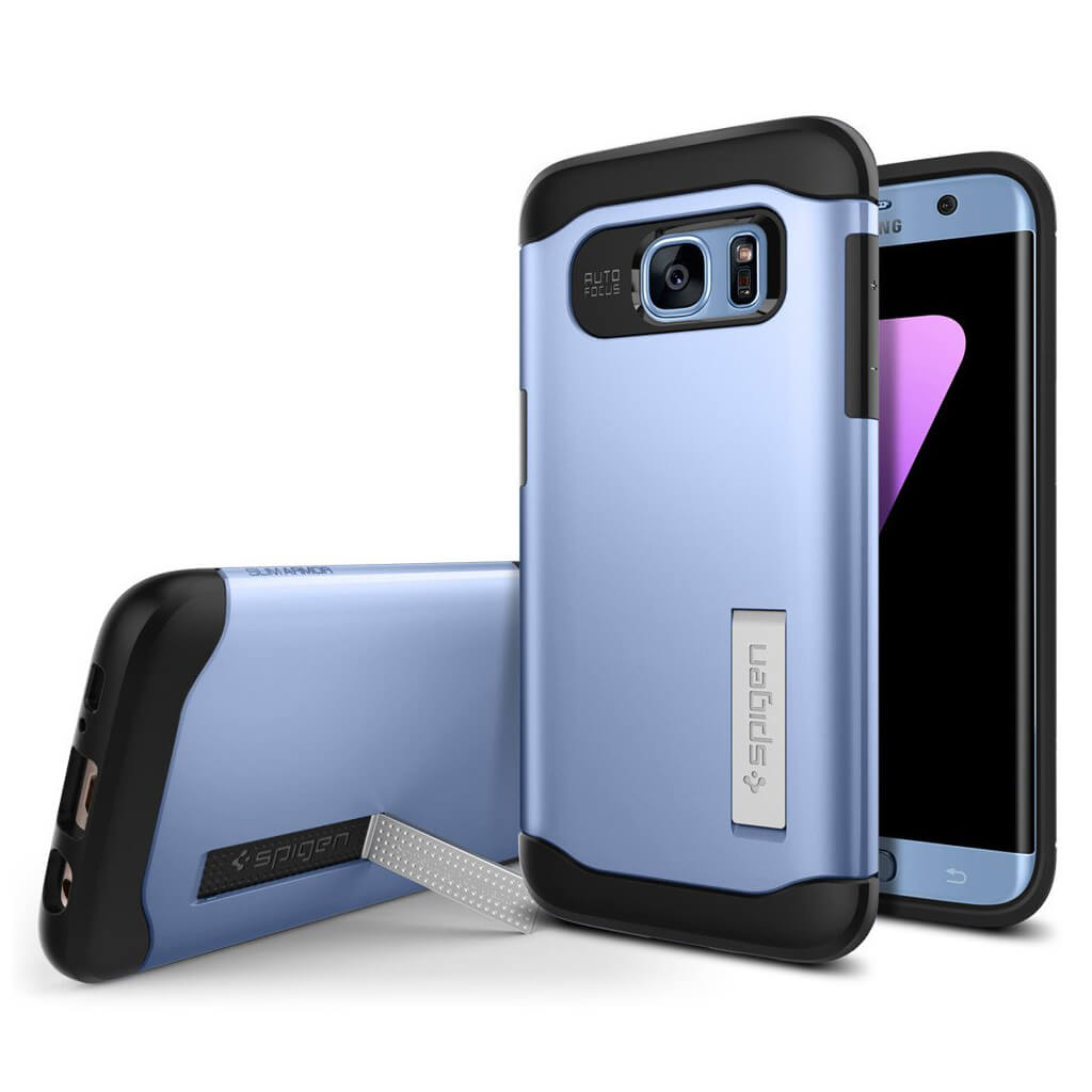 Spigen® Slim Armor™ 556CS21030 Samsung Galaxy S7 Edge Case - Blue Coral
