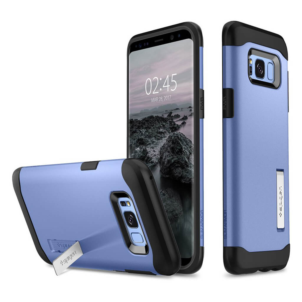 Spigen® Slim Armor™ 571CS21125 Samsung Galaxy S8+ Plus Case - Blue Coral