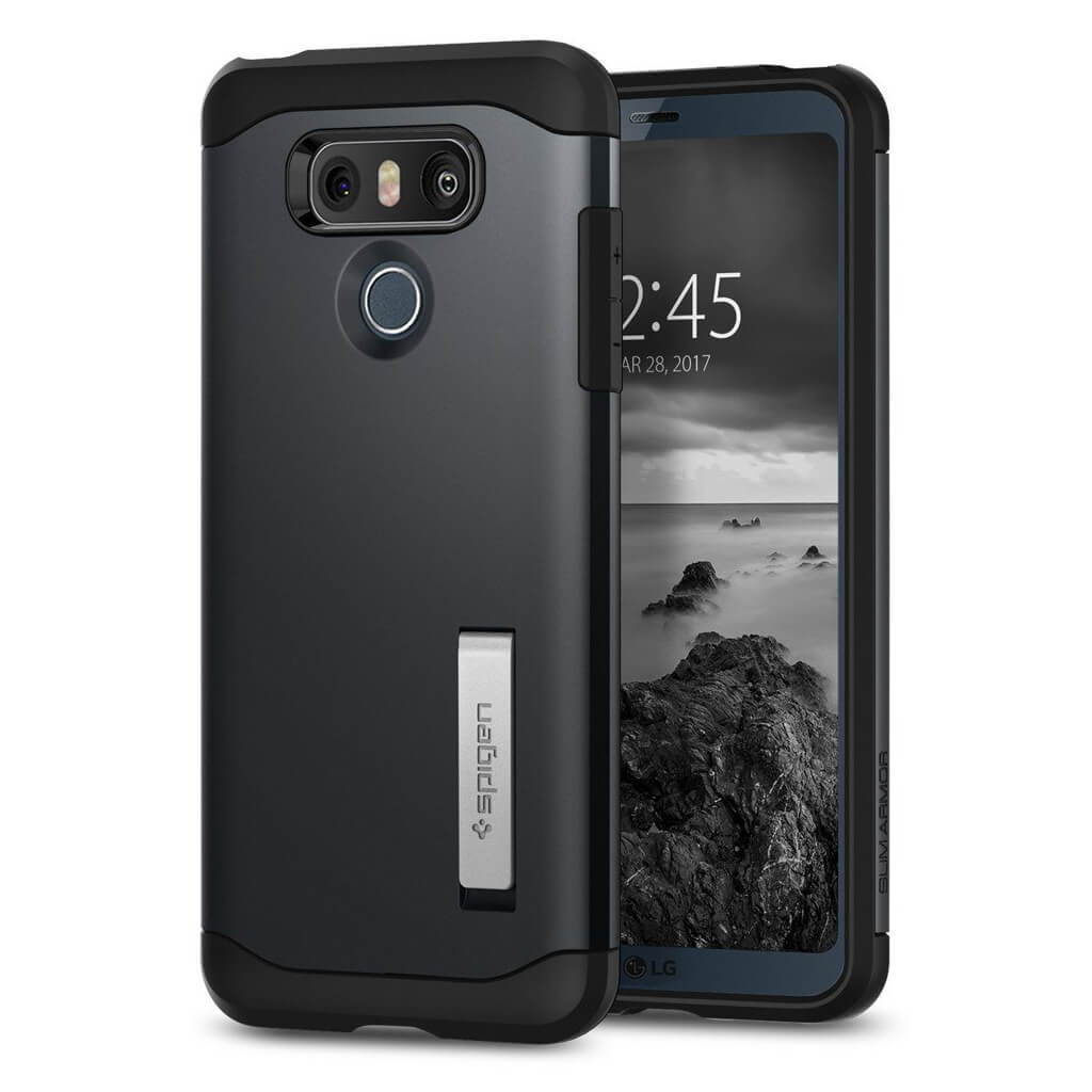 Spigen® Slim Armor™ A21CS21238 LG G6 Case - Metal Slate