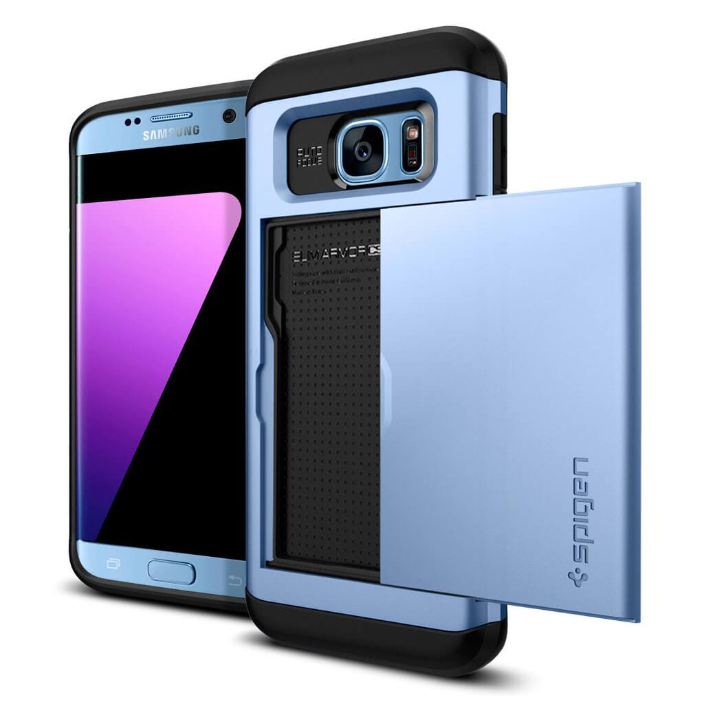 Spigen® Slim Armor CS™ 556CS21031 Samsung Galaxy S7 Edge Case - Blue Coral