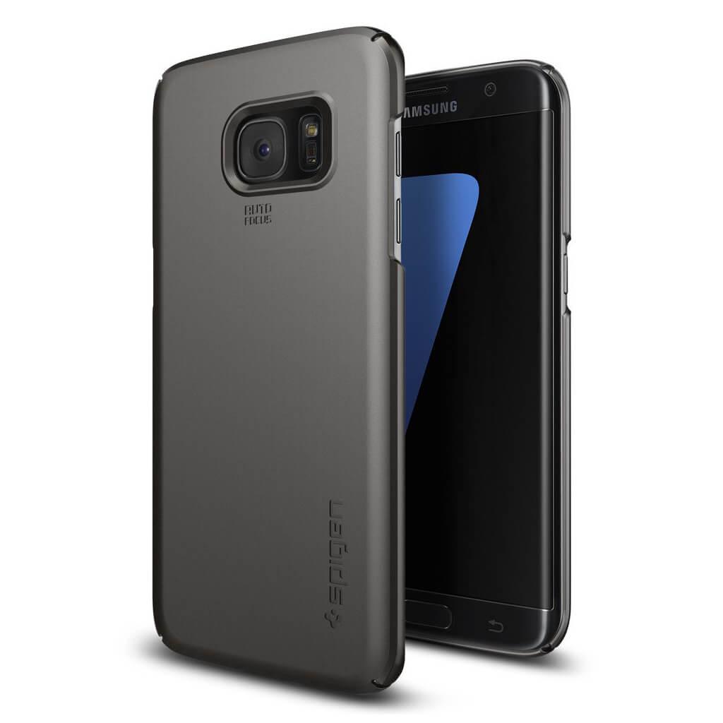 Spigen® Thin Fit™ 556CS20030 Samsung Galaxy S7 Edge Case - Gunmetal
