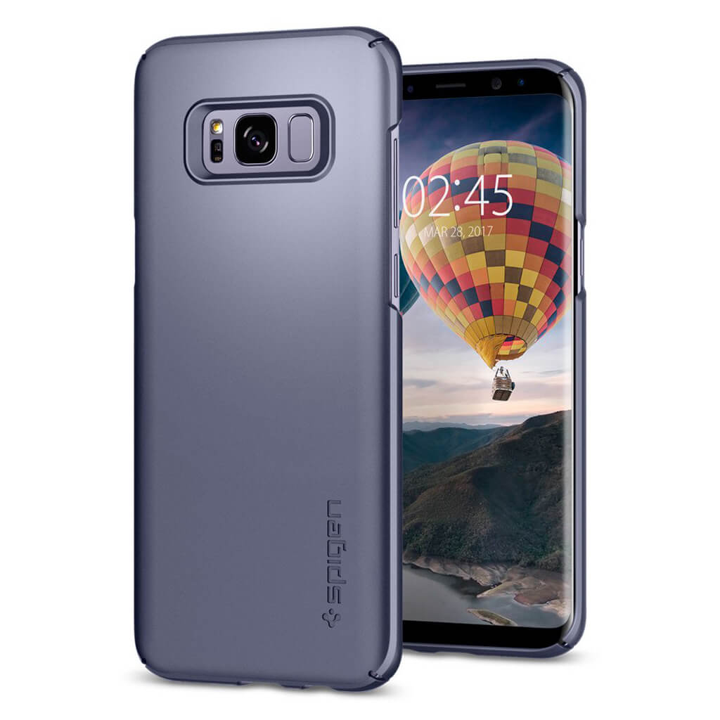 Spigen® Thin Fit™ 565CS21623 Samsung Galaxy S8 Case - Orchid Gray