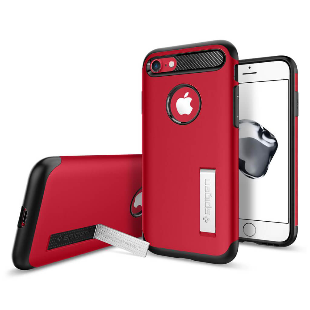 Spigen® Slim Armor™ 042CS21519 iPhone 7 Case - Crimson Red