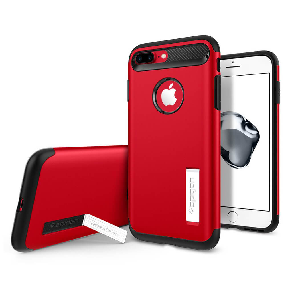 Spigen® Slim Armor™ 043CS21521 iPhone 7 Plus Case - Crimson Red