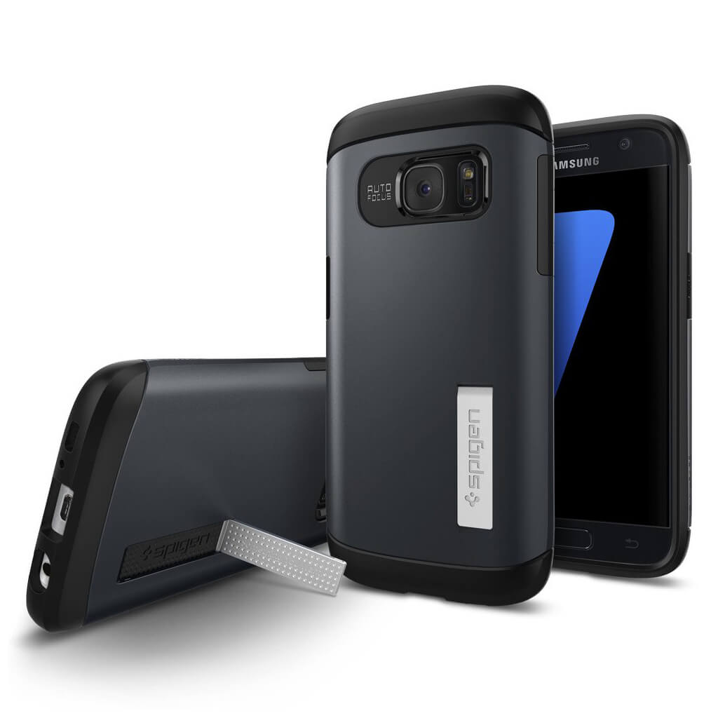 Spigen® Slim Armor™ 555CS20024 Samsung Galaxy S7 Case - Metal Slate