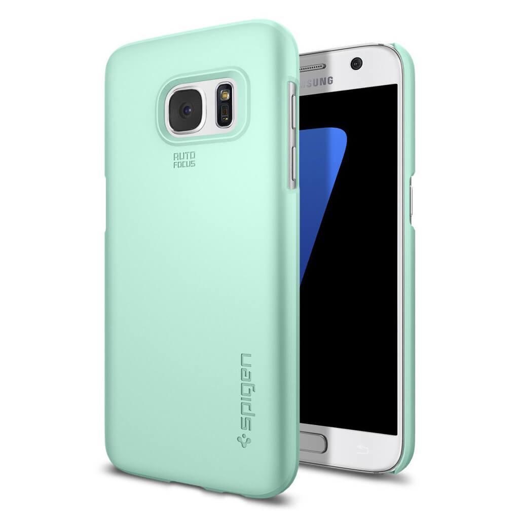 Spigen® Thin Fit™ 555CS20005 Samsung Galaxy S7 Case - Mint