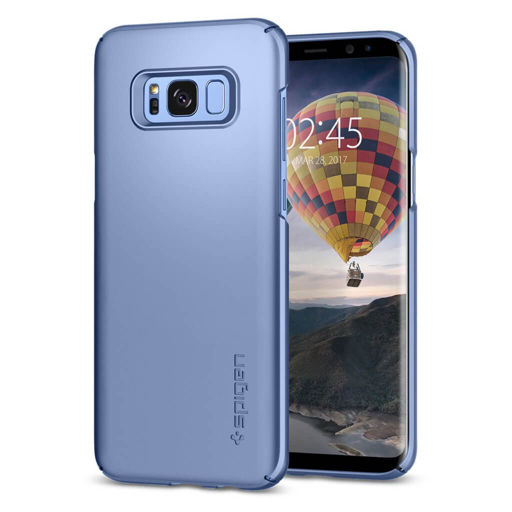 Spigen® Thin Fit™ 571CS21677 Samsung Galaxy S8+ Plus Case - Blue Coral