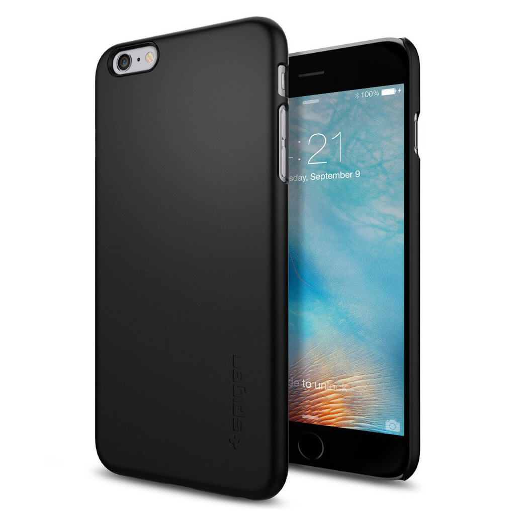 spigen thin fit sgp11638 iphone 6 plus 6s plus case black spaceboy. Black Bedroom Furniture Sets. Home Design Ideas