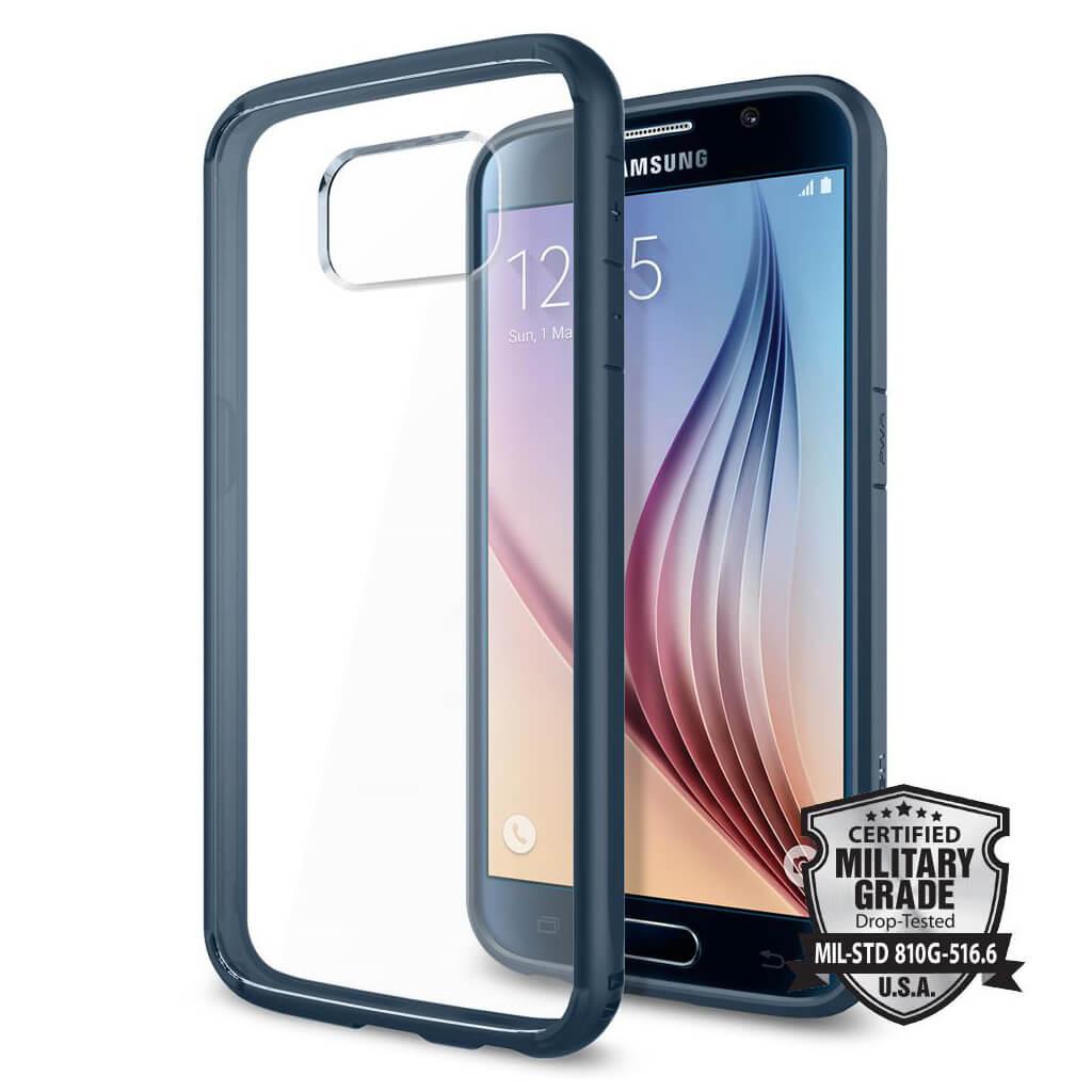 Spigen® Ultra Hybrid™ SGP11313 Samsung Galaxy S6 Case - Metal Slate