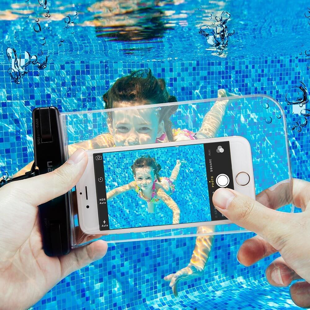 Spigen® Velo™ A600 000EM20923 IPX8 Certified Universal Waterproof Case - Crystal Clear