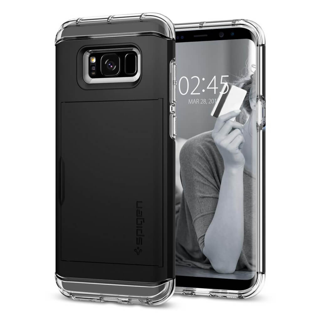 Spigen® Crystal Wallet™ 571CS21116 Samsung Galaxy S8+ Plus Case - Black