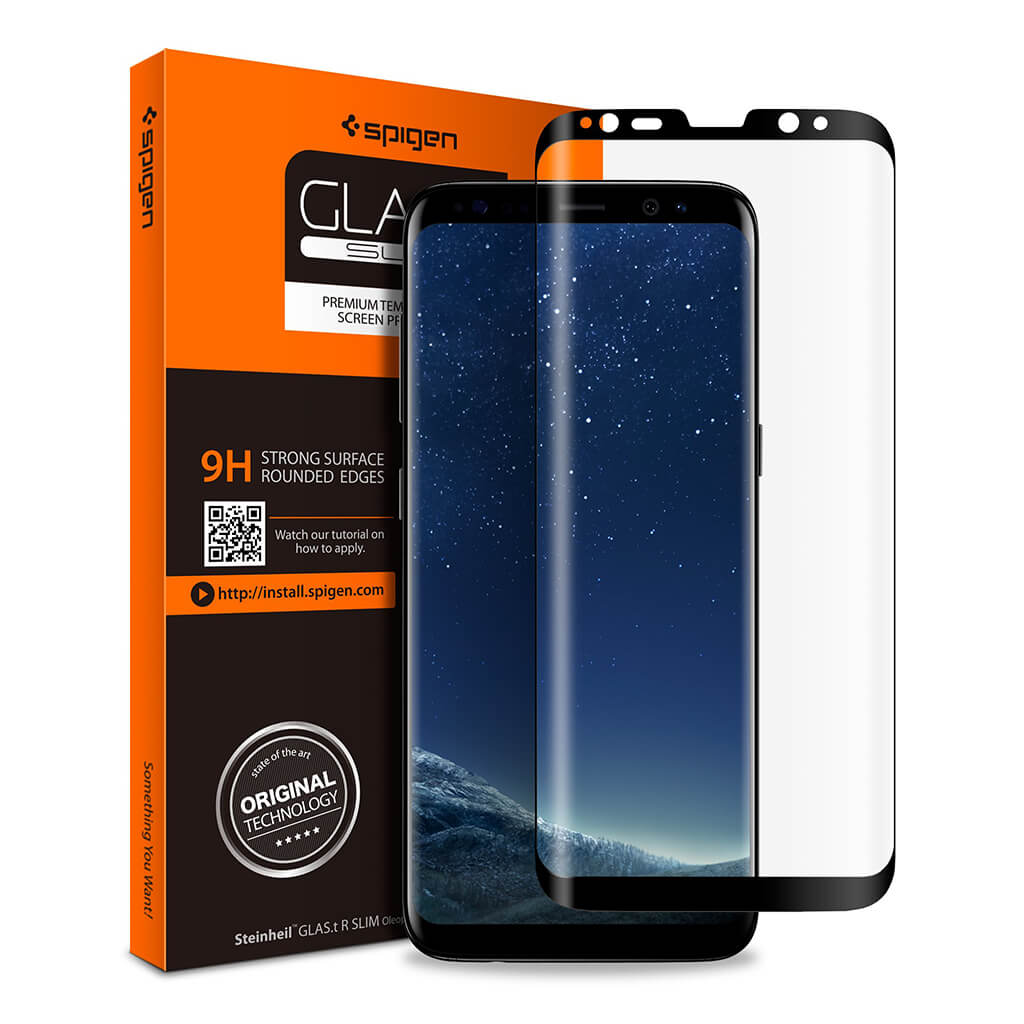Spigen® GLAS.tR SLIM™ 565GL21779 Samsung Galaxy S8 Full Cover Premium Tempered Glass Screen Protector