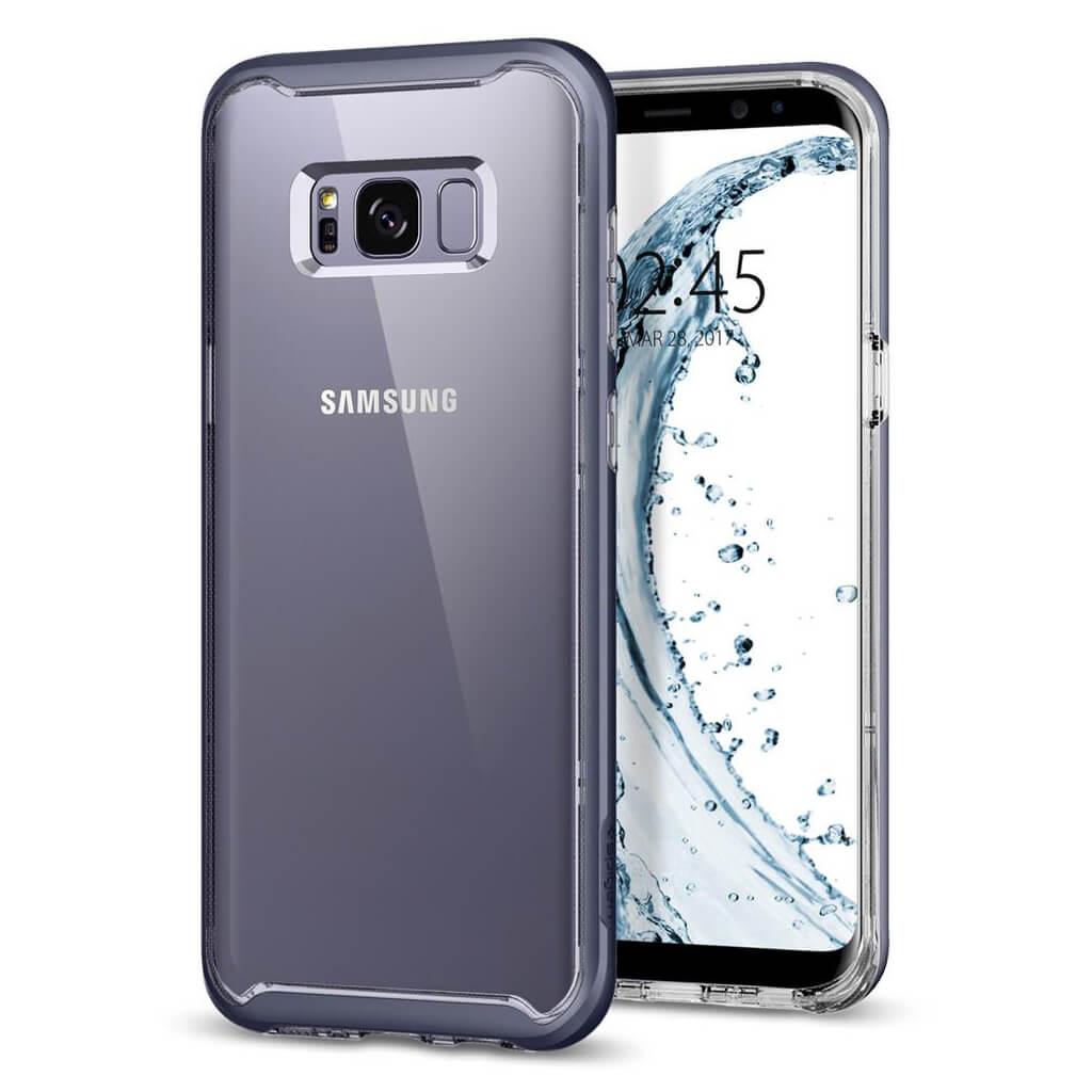 Spigen® Neo Hybrid Crystal™ 565CS21604 Samsung Galaxy S8 Case - Orchid Gray