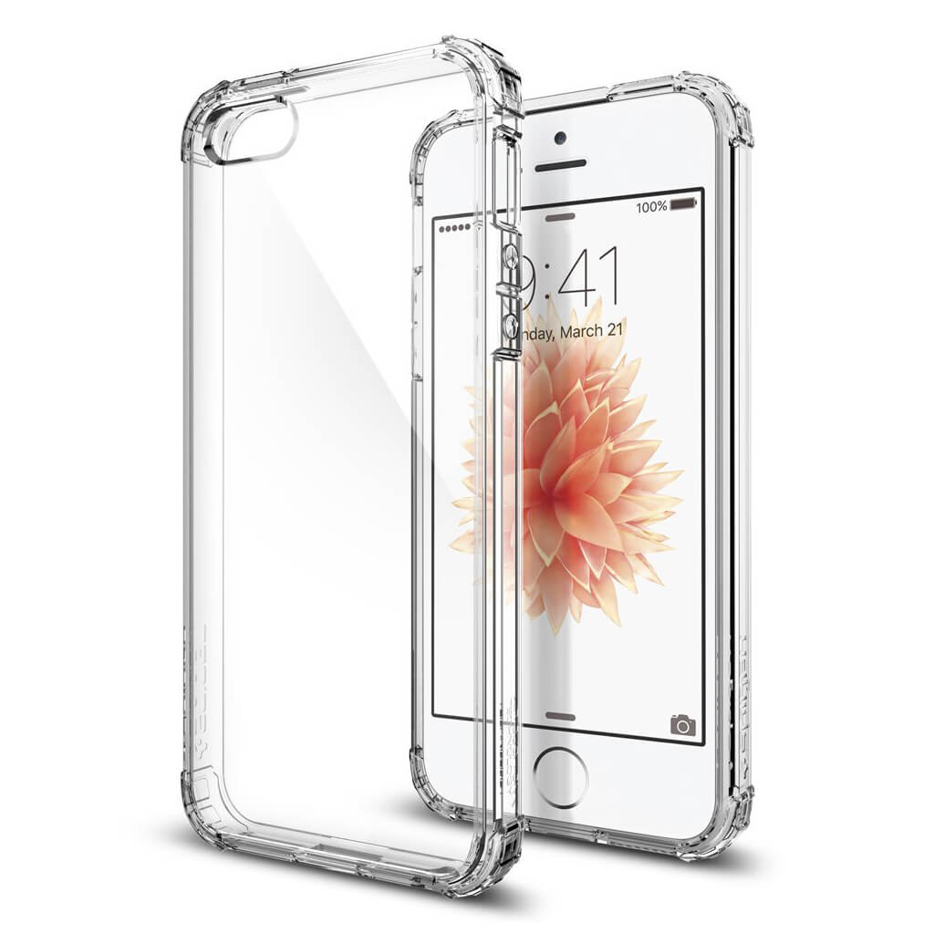 Spigen® Crystal Shell™ 041CS20177 iPhone SE/5s/5 Case - Crystal Clear