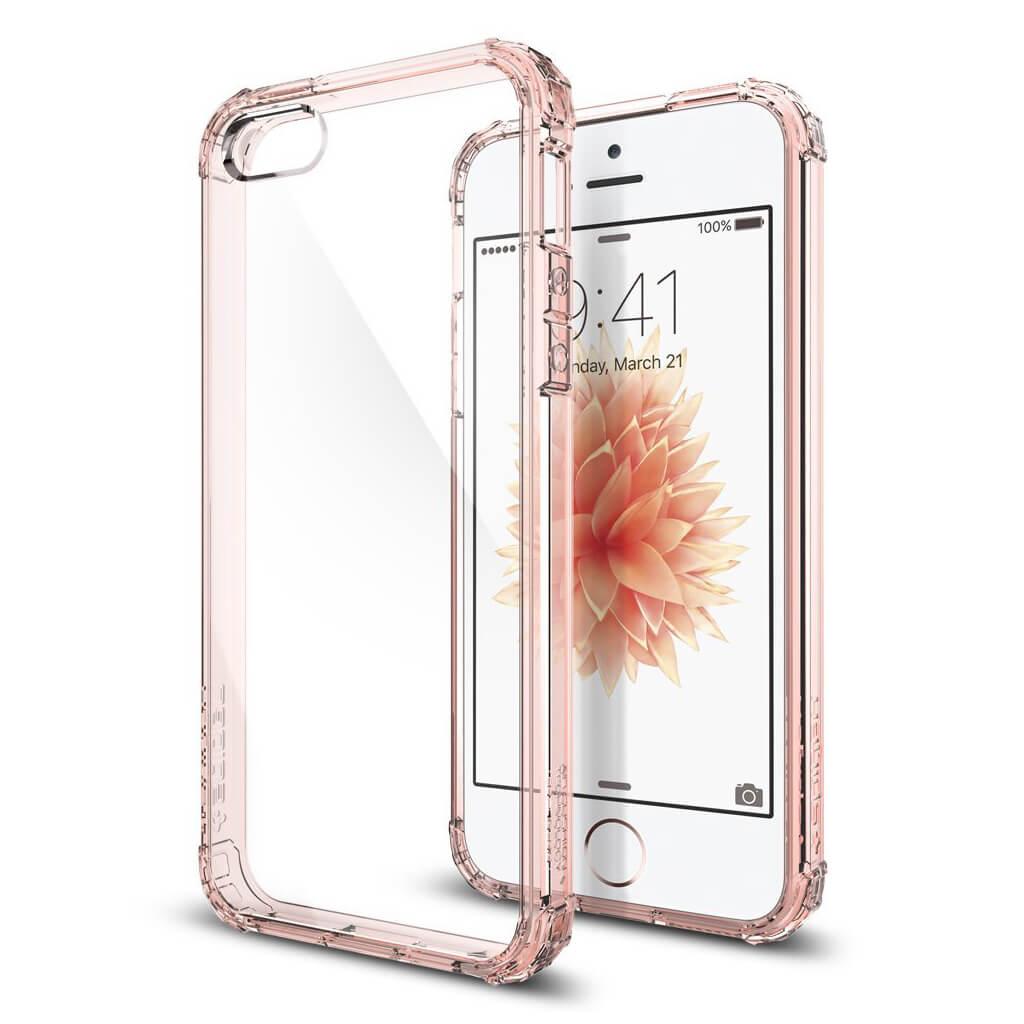 Spigen® Crystal Shell™ 041CS20178 iPhone SE/5s/5 Case - Rose Crystal