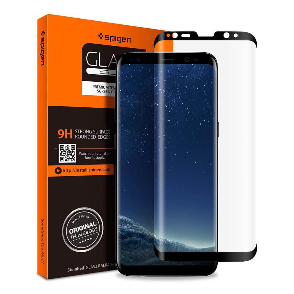 Spigen® GLAS.tR SLIM™ 571GL21780 Samsung Galaxy S8+ Plus Full Cover Premium Tempered Glass Screen Protector