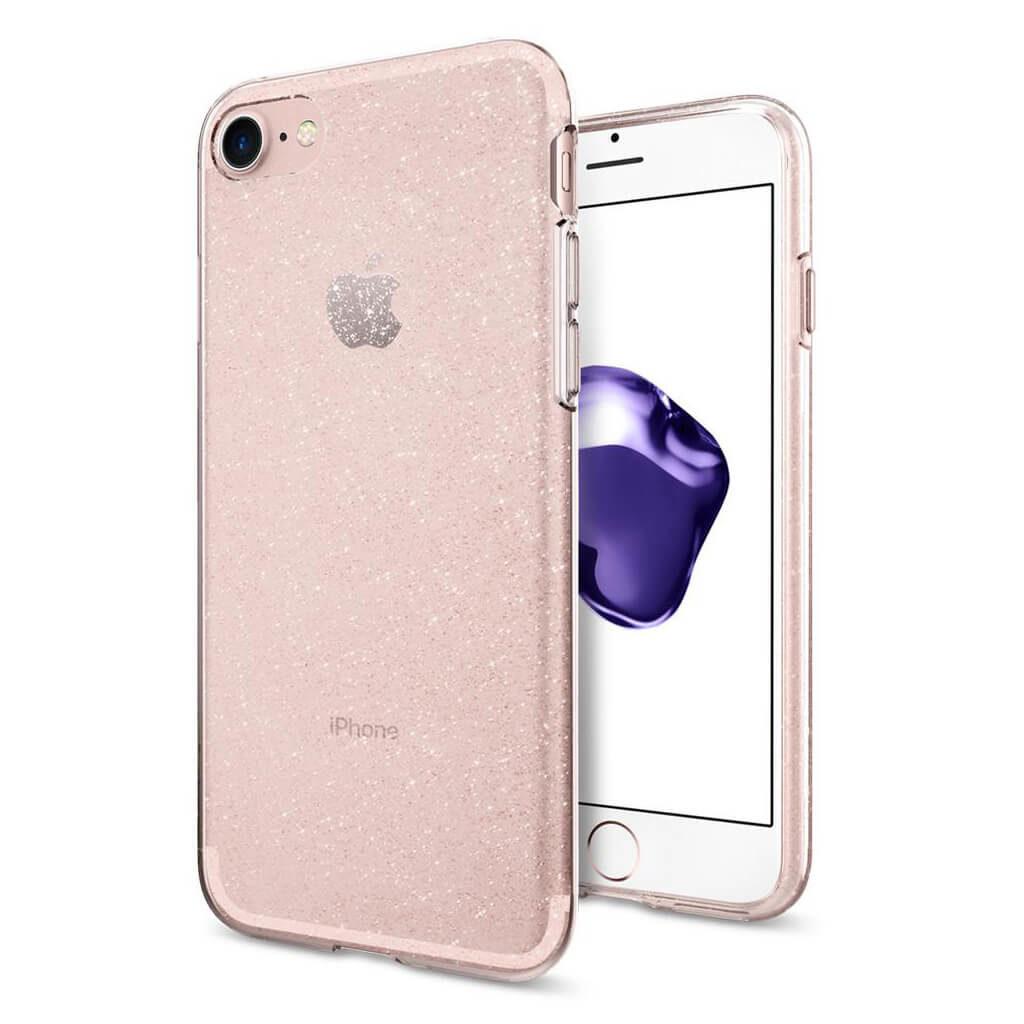 Spigen® Liquid Crystal™ Glitter 042CS21419 iPhone 7 Case - Rose Quartz