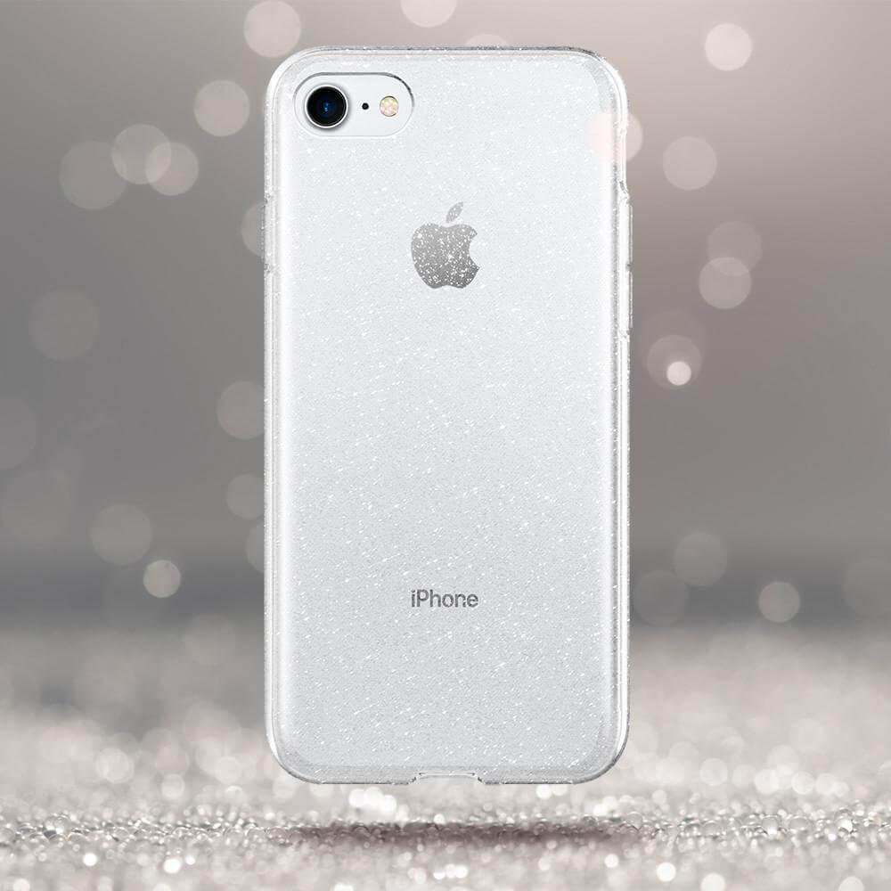 Spigen® Liquid Crystal™ Glitter 042CS21760 iPhone 7 Case - Crystal Quartz