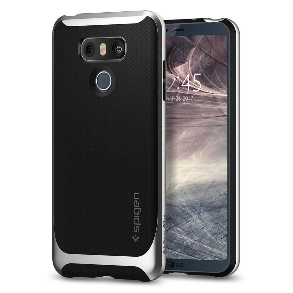 Spigen® Neo Hybrid™ A21CS21237 LG G6 Case - Satin Silver