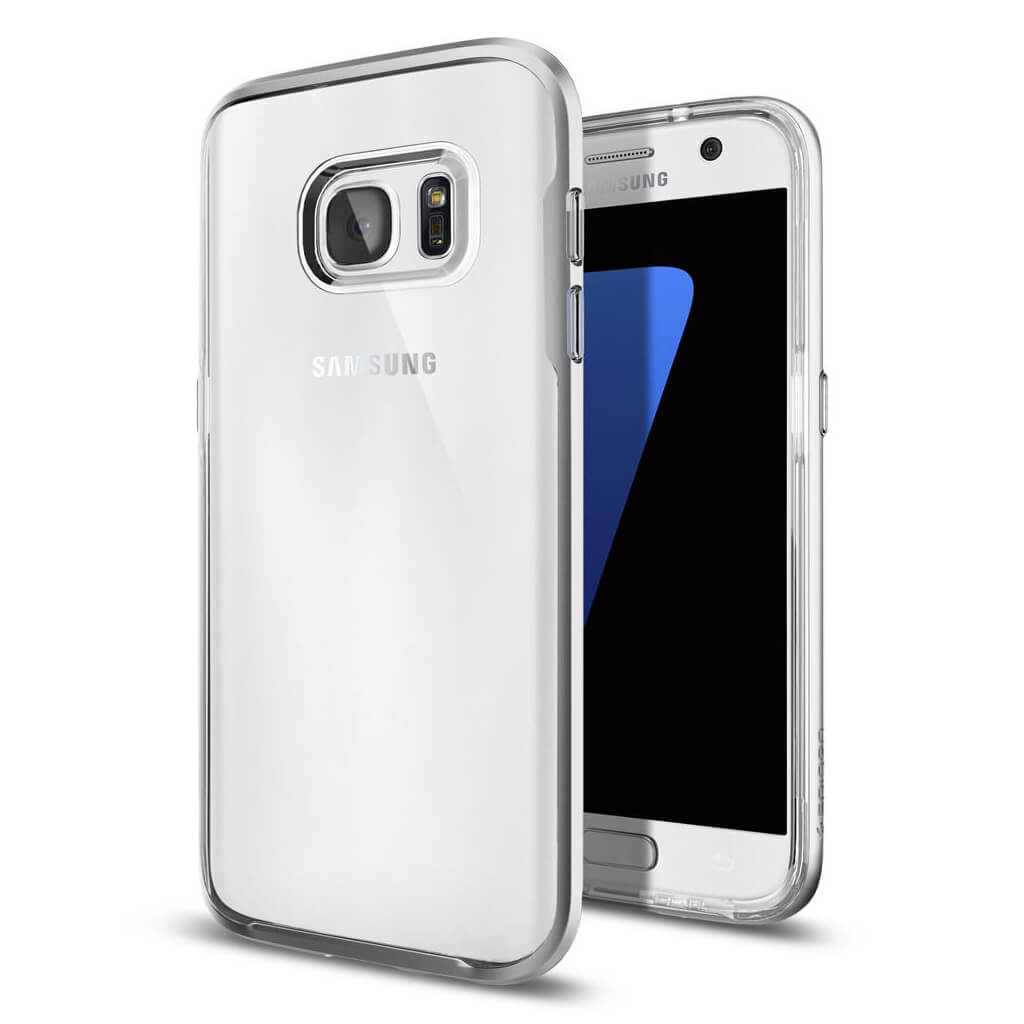 Spigen® Neo Hybrid Crystal™ 555CS20021 Samsung Galaxy S7 Case - Satin Silver
