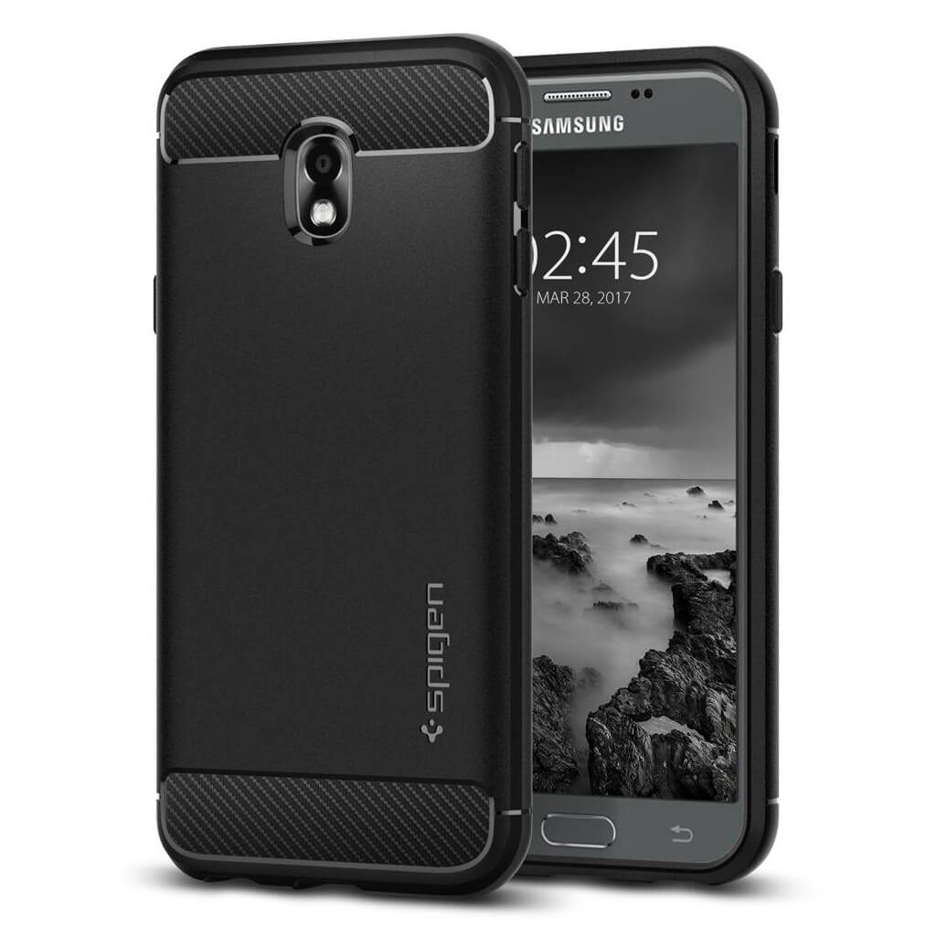 Spigen® Rugged Armor™ 580CS21499 Samsung Galaxy J3 (2017) Case - Black