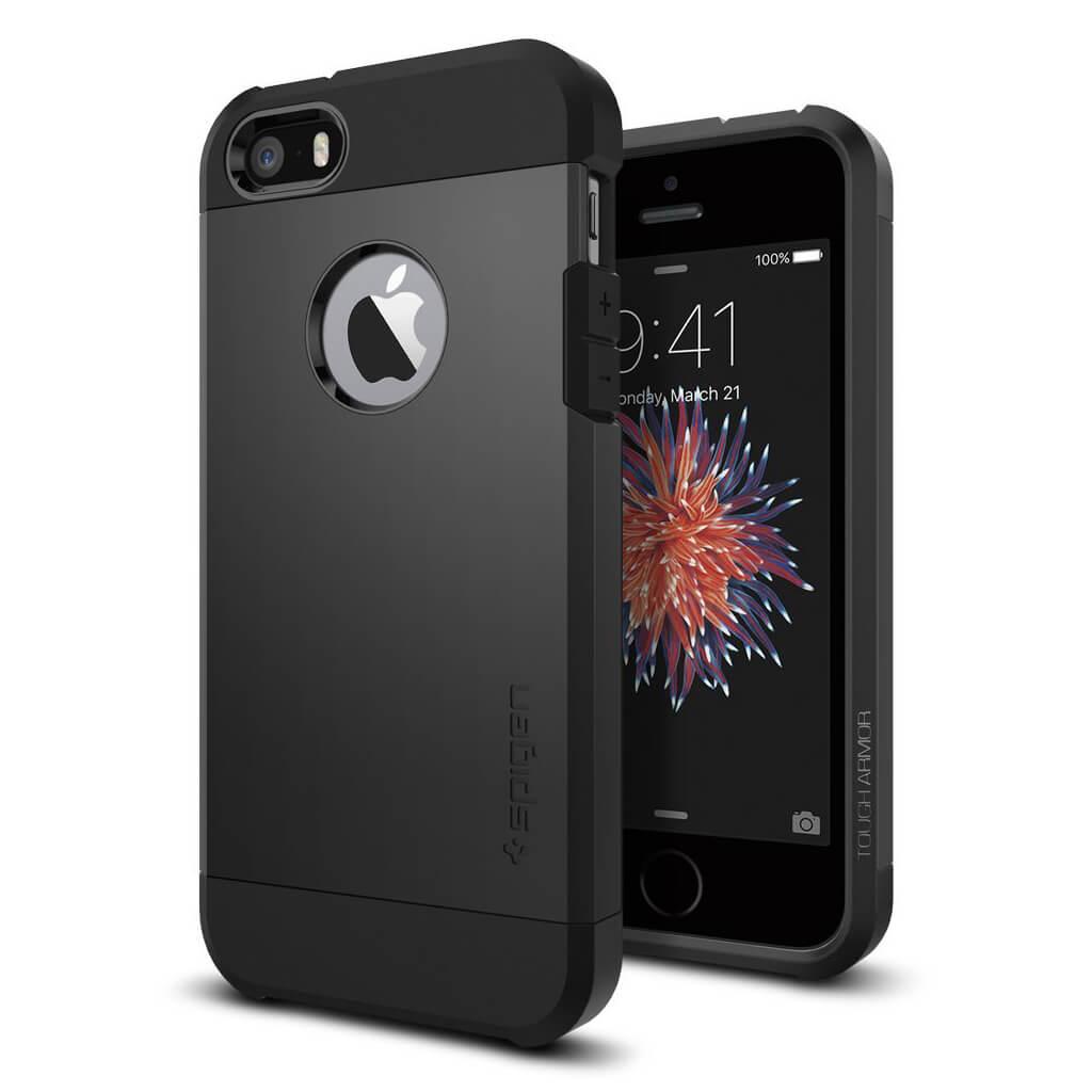 Spigen® Tough Armor™ 041CS20189 iPhone SE/5s/5 Case - Black
