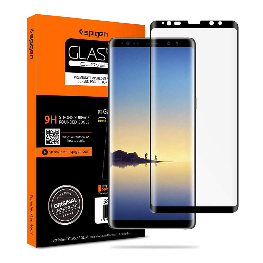 Spigen® GLAS.tR™ CURVED Samsung Galaxy Note 8 Full Cover Premium Tempered Glass Screen Protector
