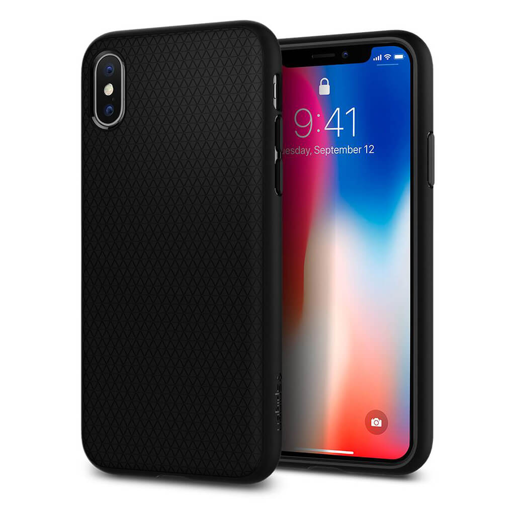 Spigen® Liquid Air Armor™ 057CS22123 iPhone X Case - Matte Black