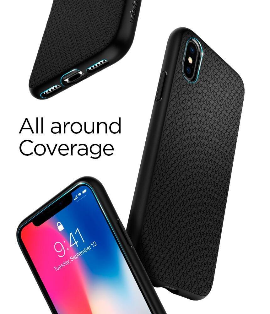 Spigen® Liquid Air Armor™ 057CS22123 iPhone X Case - Matte Black