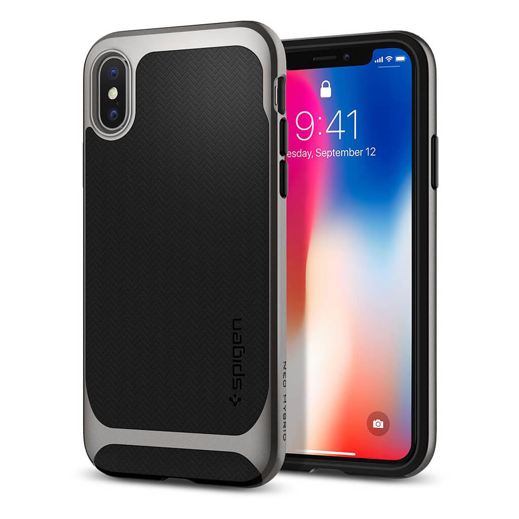 Spigen® Neo Hybrid™ 057CS22165 iPhone X Case - Gunmetal