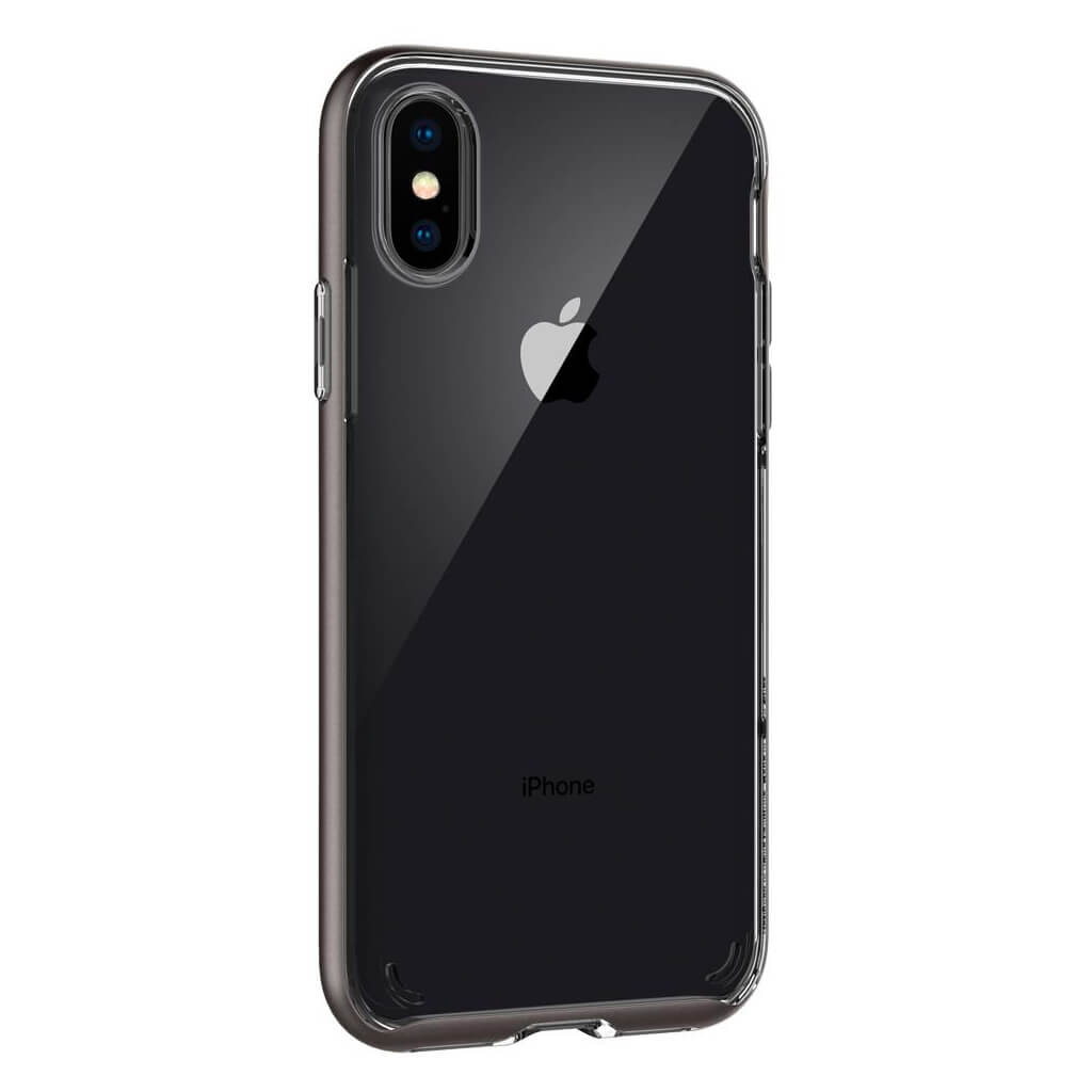 Spigen® Neo Hybrid Crystal™ 057CS22172 iPhone X Case - Gunmetal