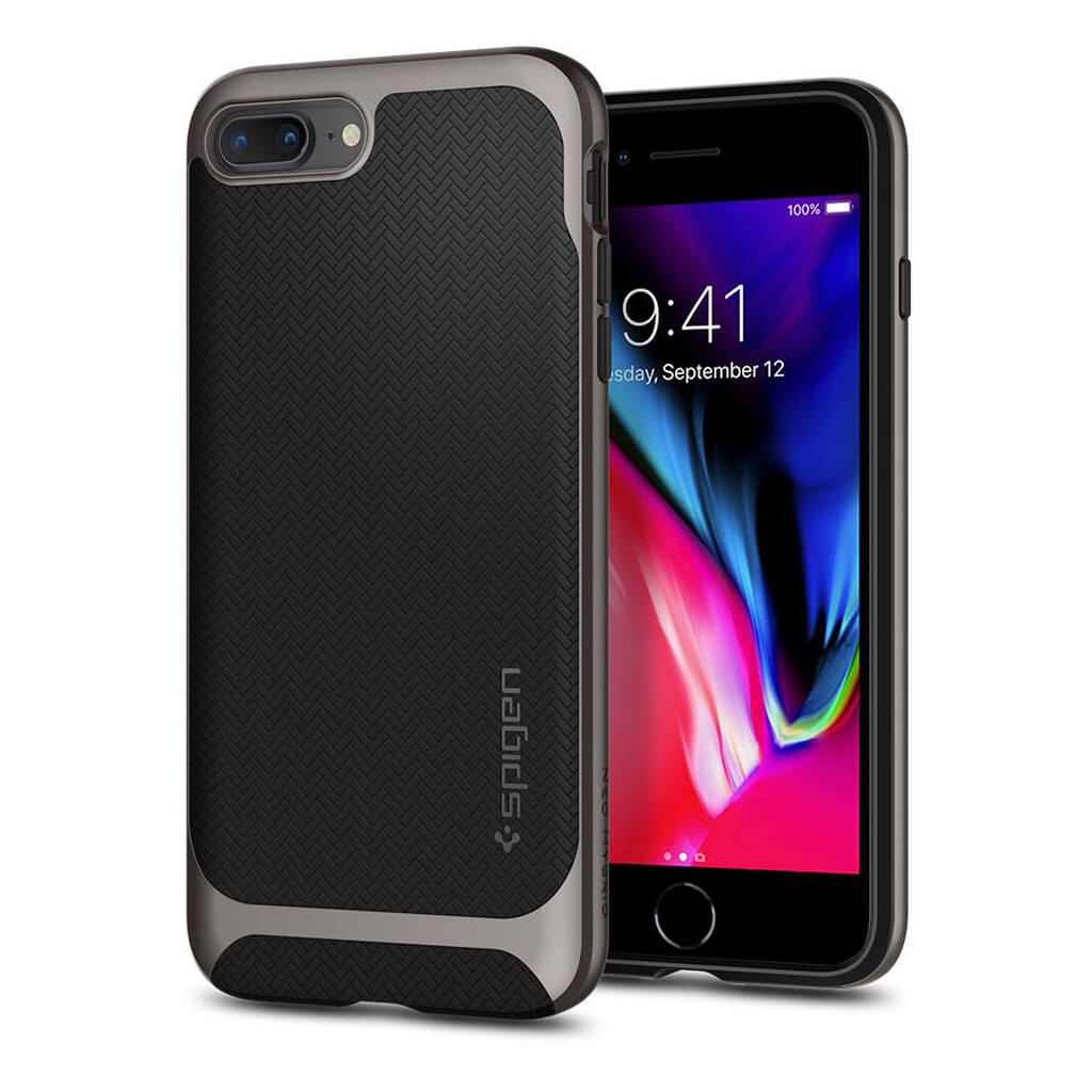 Spigen® Neo Hybrid™ Herringbone™ 055CS22227 iPhone 8 Plus / 7 Plus Case - Gunmetal