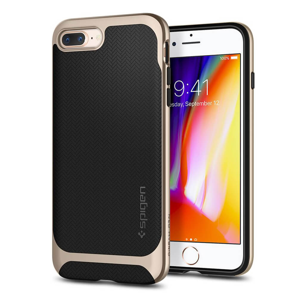 Spigen® Neo Hybrid™ Herringbone™ 055CS22231 iPhone 8 Plus / 7 Plus Case - Champagne Gold