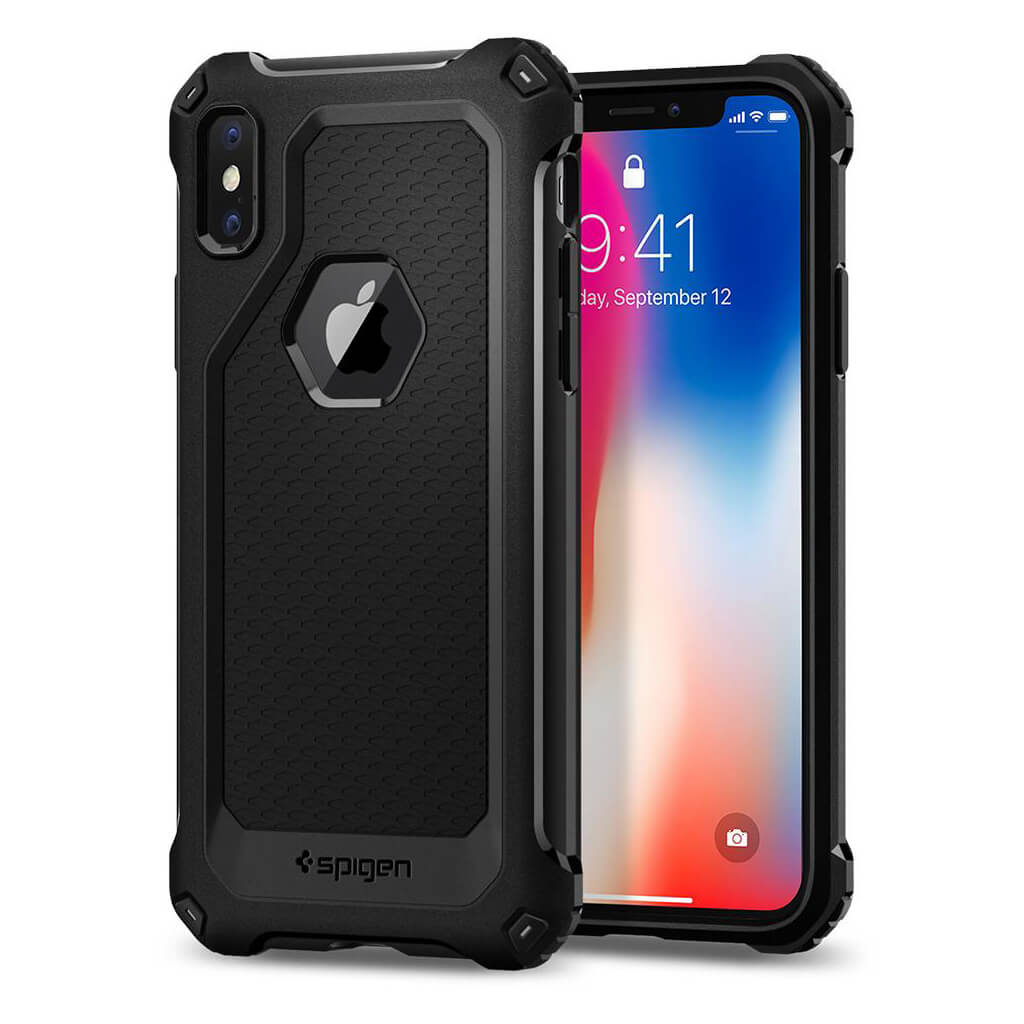 Spigen® Rugged Armor Extra™ 057CS22154 iPhone X Case - Black