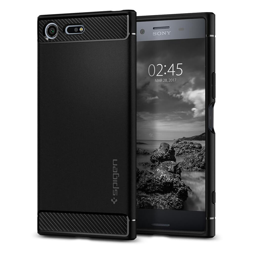 Spigen® Rugged Armor™ G10CS21968 Sony Xperia XZ Premium Case - Black