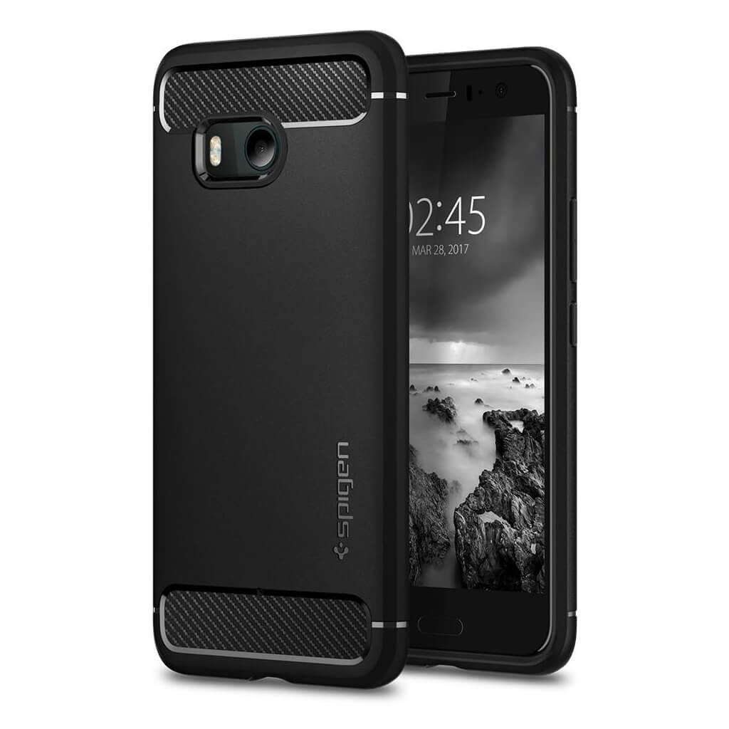 Spigen® Rugged Armor™ H11CS21938 HTC U11 Case - Black