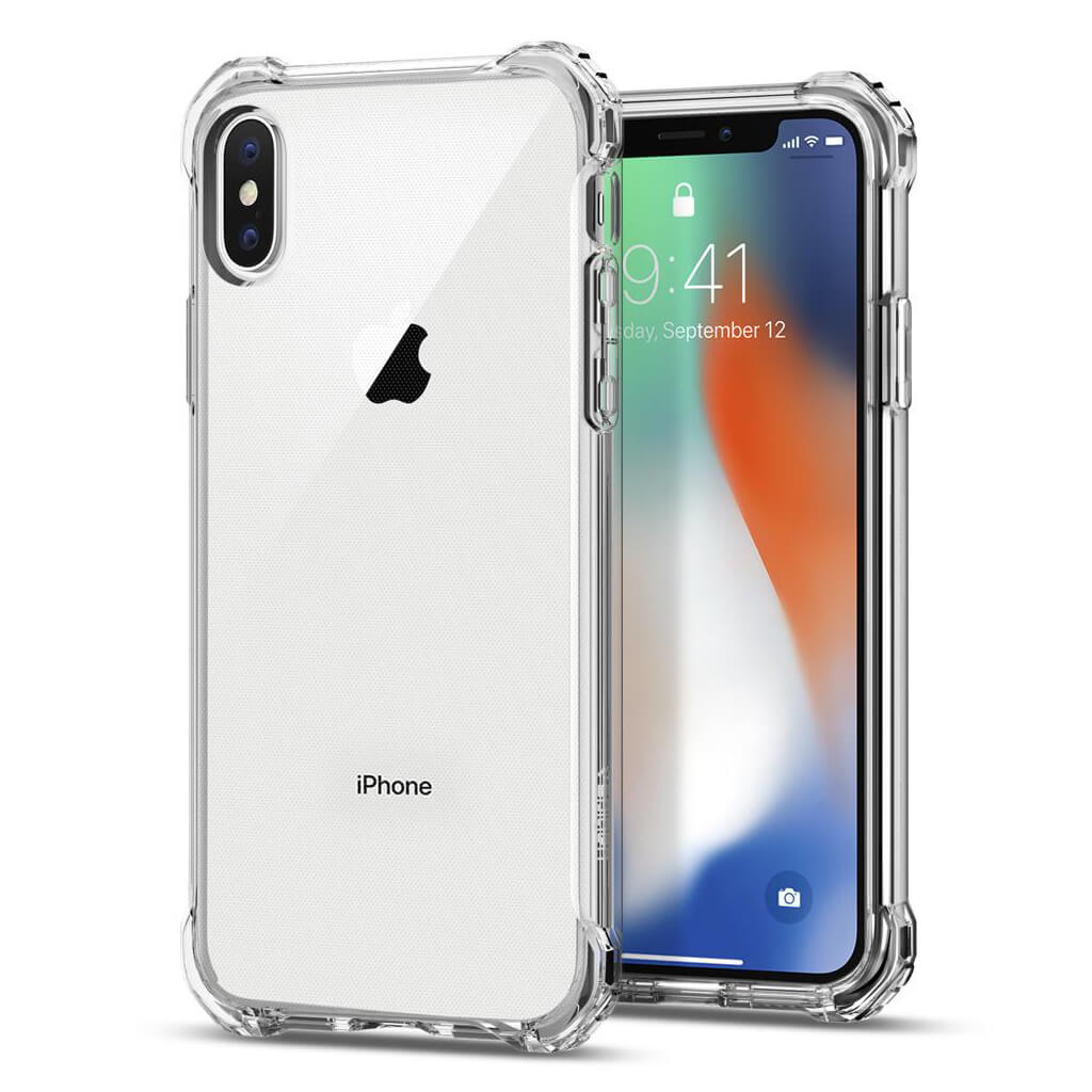 Spigen® Rugged Crystal™ 057CS22117 iPhone X Case - Crystal Clear