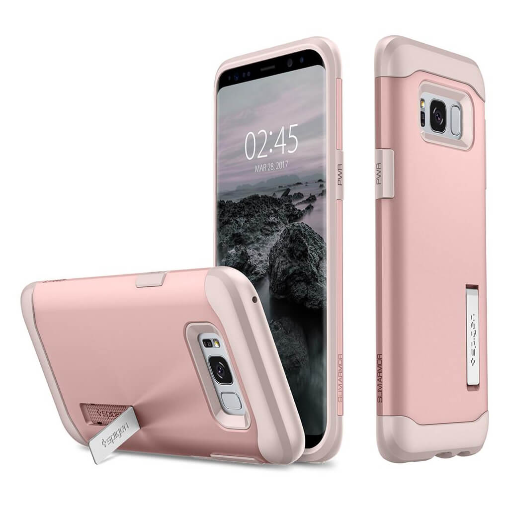 Spigen® Slim Armor™ 565CS21434 Samsung Galaxy S8 Case - Rose Gold