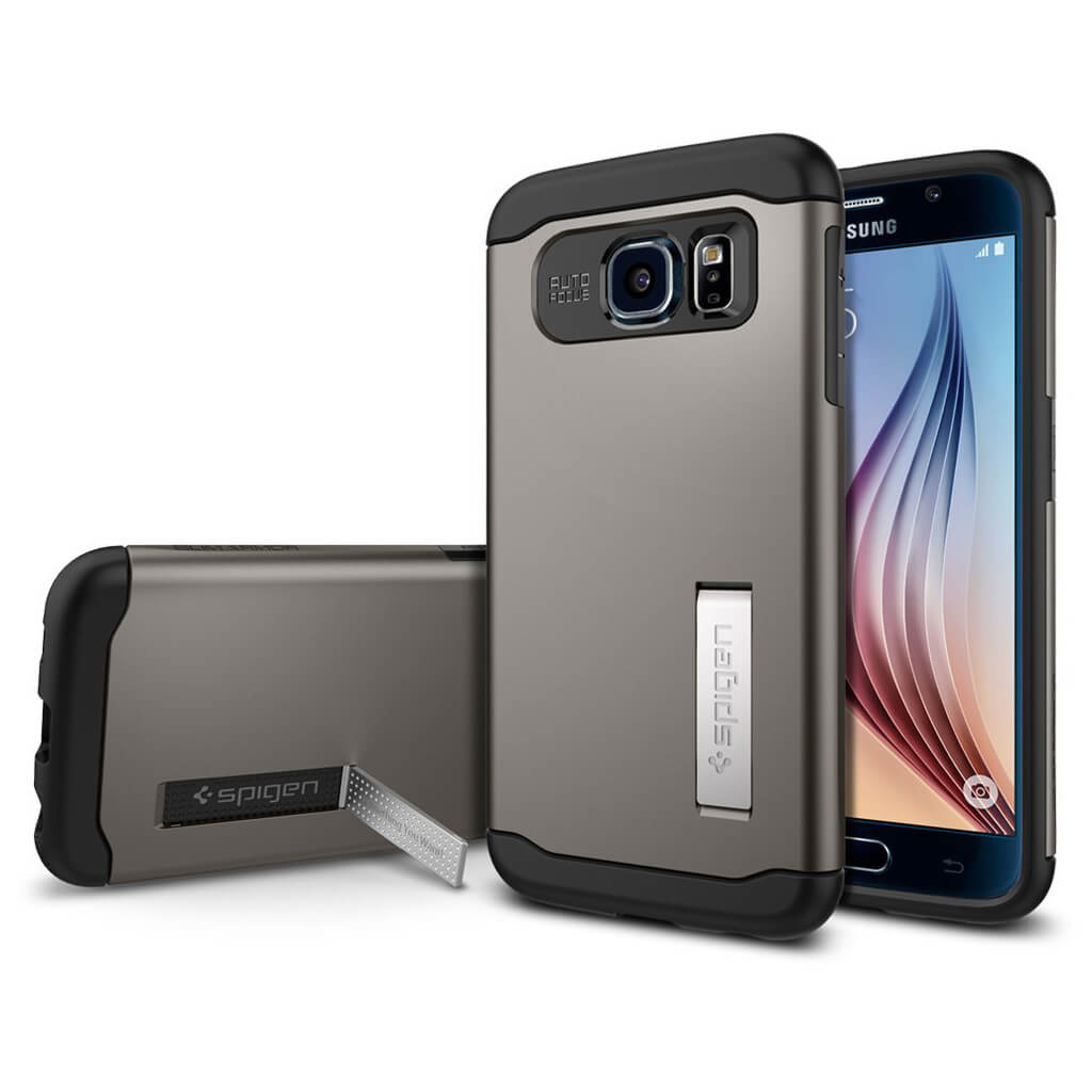 Sim will spigen slim armor samsung galaxy s6 case gunmetal will