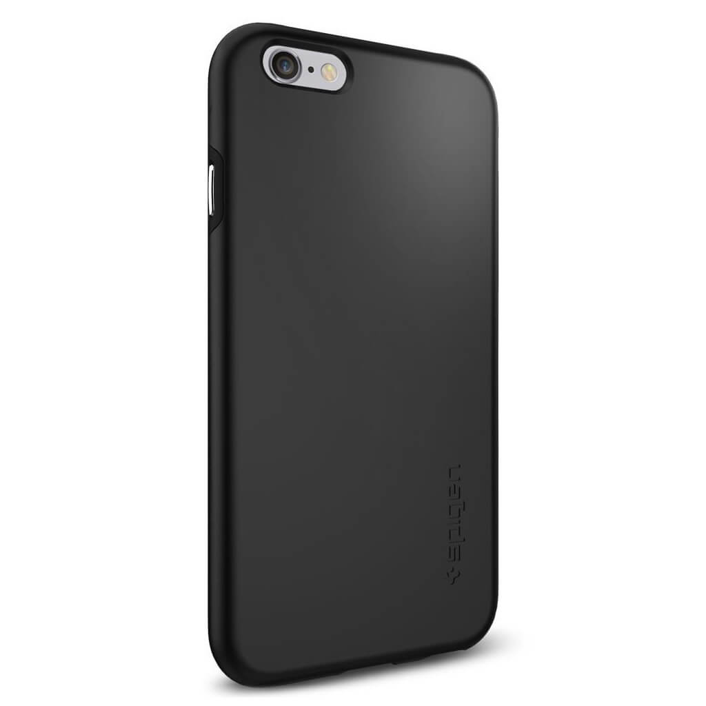 spigen thin fit hybrid sgp11730 iphone 6 6s case black spaceboy. Black Bedroom Furniture Sets. Home Design Ideas