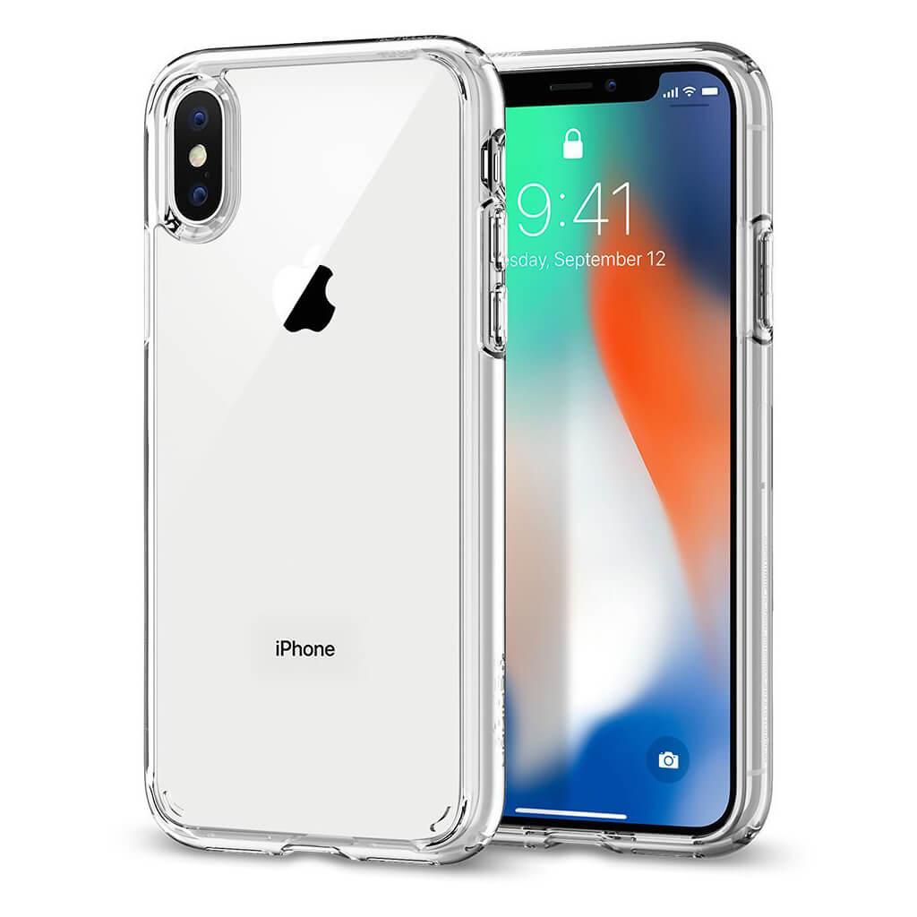 Spigen® Ultra Hybrid™ 057CS22127 iPhone X Case - Crystal Clear