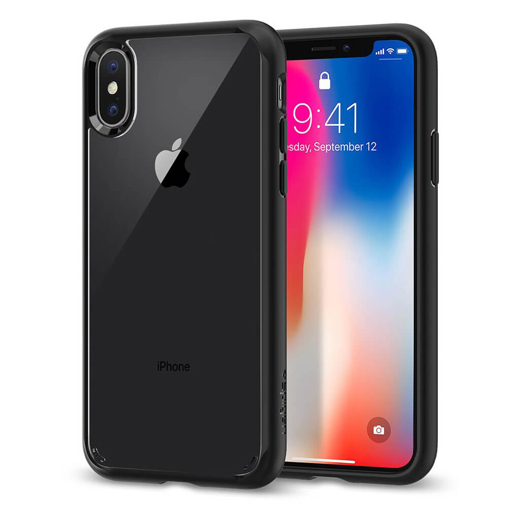 Spigen® Ultra Hybrid™ 057CS22129 iPhone X Case - Matte Black