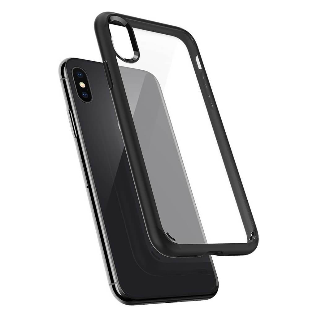 Spigen® Ultra Hybrid™ 057CS22129 iPhone X Case - Matte Black