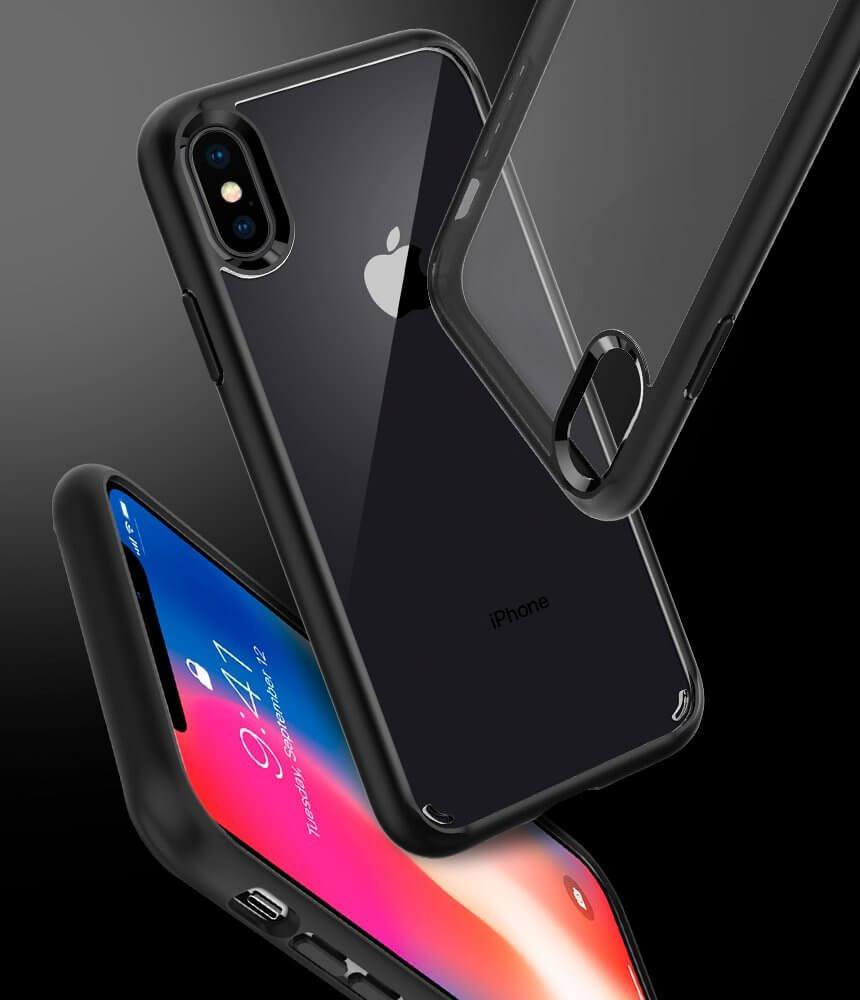 Spigen® Ultra Hybrid™ 057CS22129 iPhone XS / X Case - Matte Black