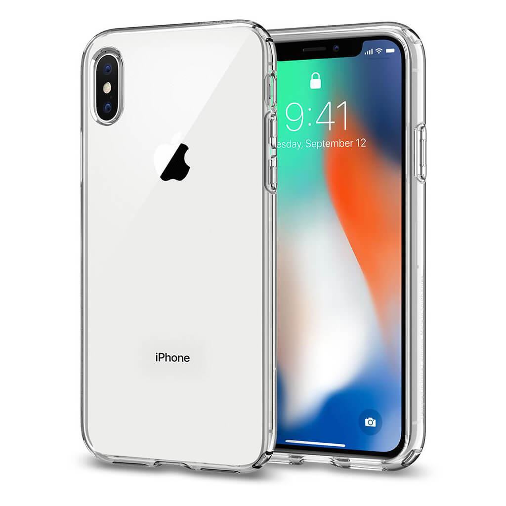 Spigen® Liquid Crystal™ 057CS22118 iPhone X Case - Crystal Clear