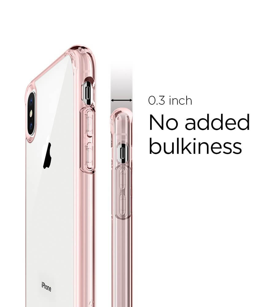 Spigen® Ultra Hybrid™ 057CS22128 iPhone X Case - Rose Crystal