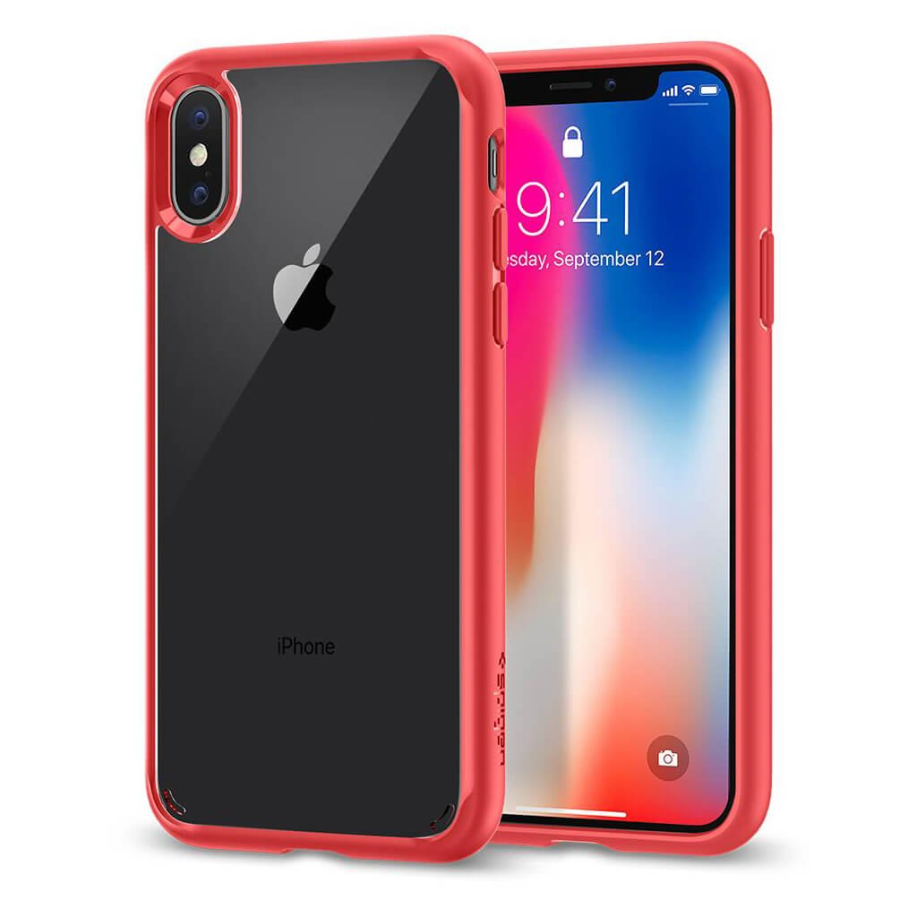 Spigen® Ultra Hybrid™ 057CS22130 iPhone X Case - Red
