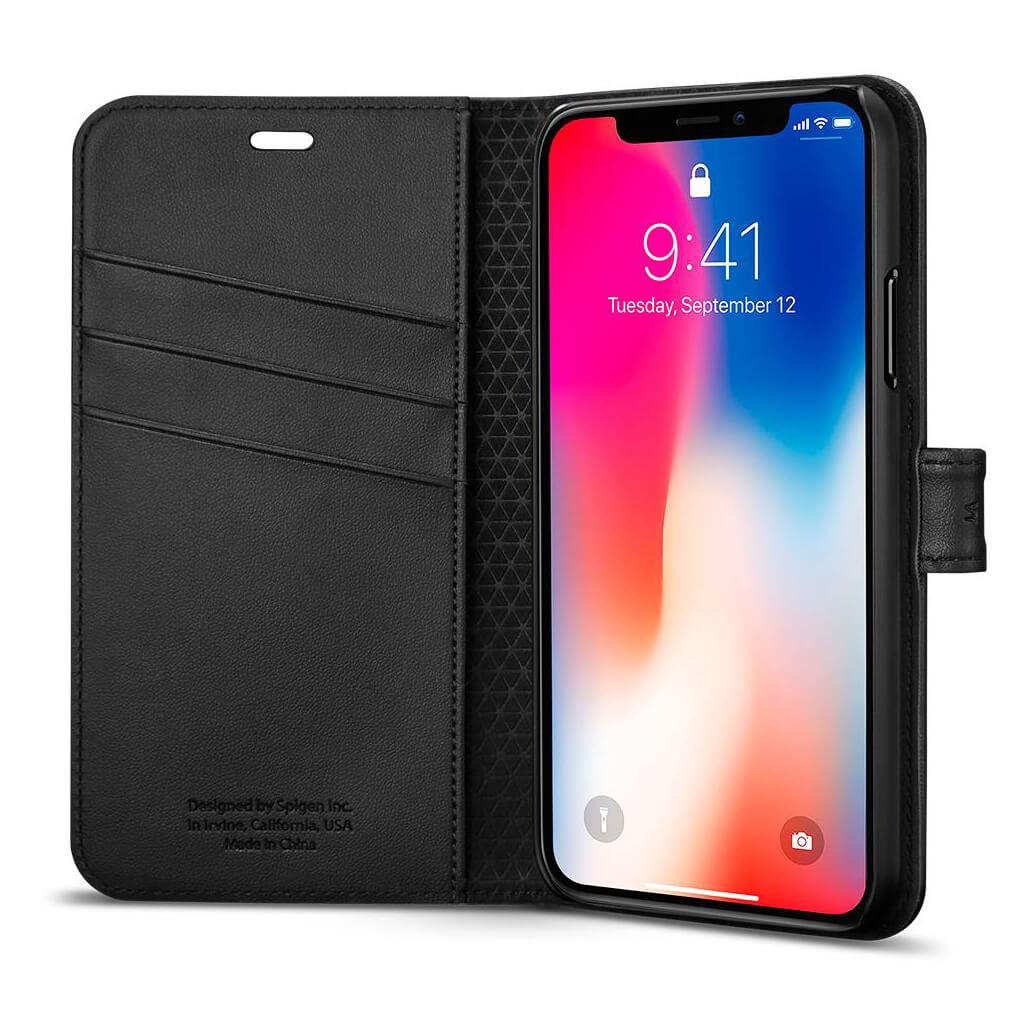 Spigen 174 Wallet S 057cs22176 Iphone Xs X Case Black