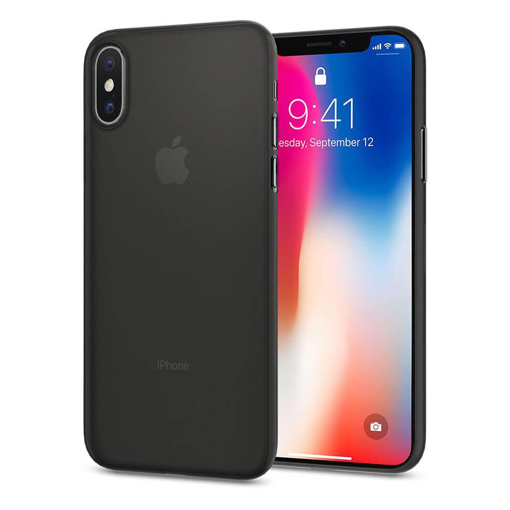 Spigen® Air Skin™ 057CS22114 iPhone X Case - Black