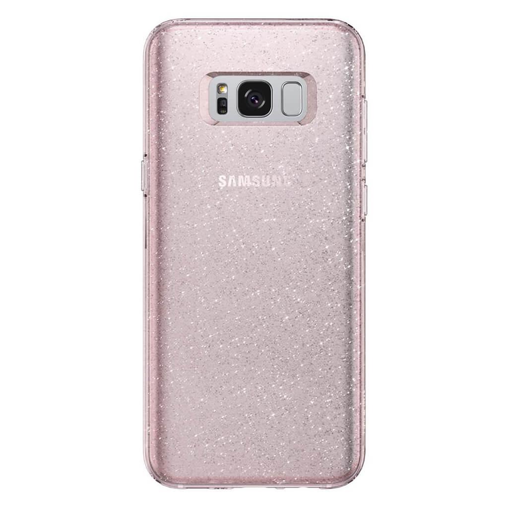 Spigen® Liquid Crystal™ Glitter 565CS21615 Samsung Galaxy S8 Case - Rose Quartz